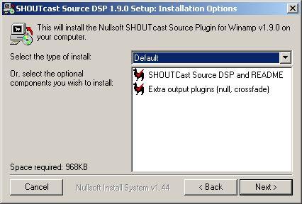 shoutcast source dsp 1.9.0